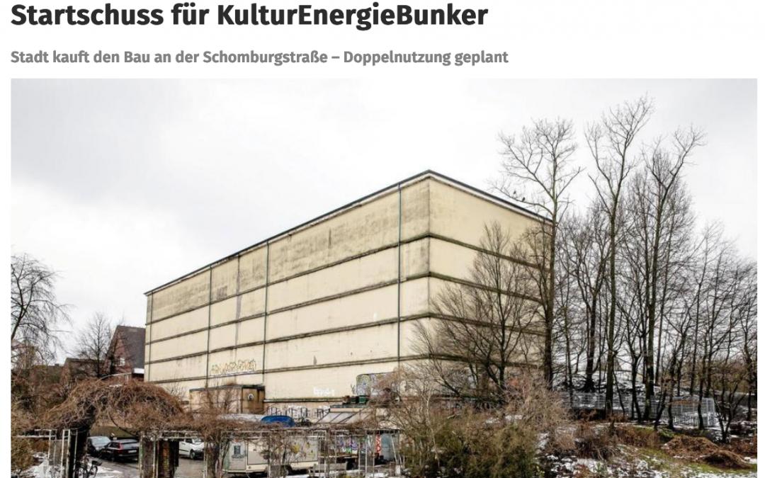 """Hamburger Abendblatt: """"Startschuss für KulturEnergieBunker"""""""